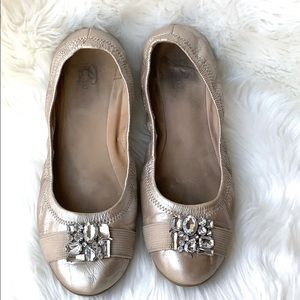 2 For $20 Easy Spirit Metallic&Crystal Flats 9